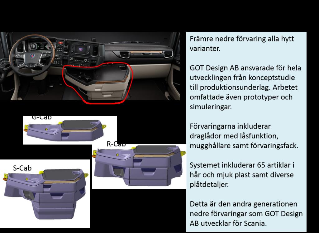 Nya Scania - 2 Främre nedra förvaring alla hyttvarianter